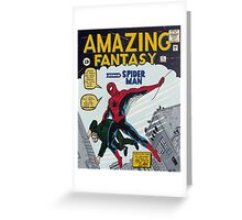 Spiderman comic book cover- acrylic painting Greeting Card