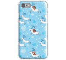Riding Reindeer - Christmas Pattern iPhone Case/Skin