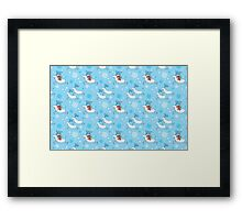 Riding Reindeer - Christmas Pattern Framed Print