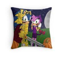 A Halloween Night Throw Pillow