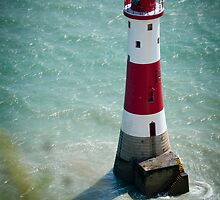 Beachy Head Lighthouse - Sussex, UK. by DonDavisUK