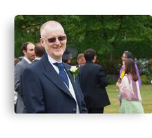 Father of the groom at the reception Canvas Print