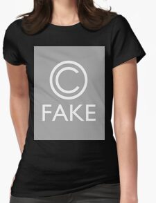 """""""Fake Copyright"""" Womens Fitted T-Shirt"""