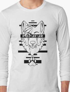 POPUFUR -black text- Long Sleeve T-Shirt