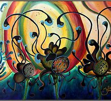 Exraterrestrial Flora.. by Jolanta Anna Karolska / Artbyjolla