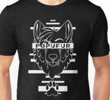 POPUFUR -white text- Unisex T-Shirt