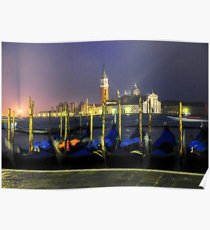 'Venice Gondolas' Poster
