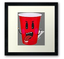 Cups Playing Beer Pong Framed Print