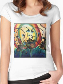 Exraterrestrial Flora.. Women's Fitted Scoop T-Shirt