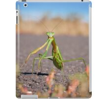 'Who, Me?' Praying Mantis Macro iPad Case/Skin