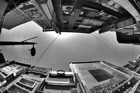 Looking Up In Fisheye (B&W) by Christian Eccleston