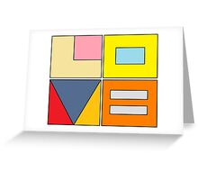 equal love blocks Greeting Card