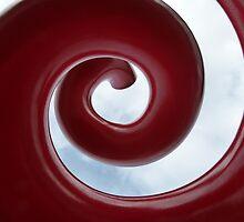 Crimson Spiral to the Sky by DEB CAMERON