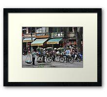 flower sellers | Hanoi Viet Nam Framed Print