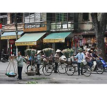 flower sellers | Hanoi Viet Nam Photographic Print