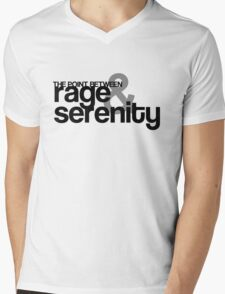 Rage and Serenity Mens V-Neck T-Shirt