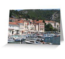 Hvar Island Harbour Greeting Card