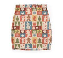 Iconic Silhouettes - Christmas Pattern Mini Skirt