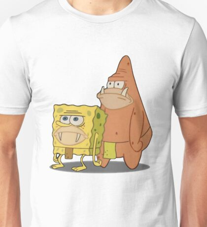Prehistoric Spongebob and Patrick Unisex T-Shirt