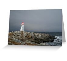 Peggy's Cove Lighthouse Nova Scotia Canada Greeting Card