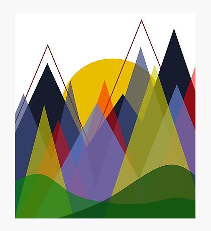 Geometric Landscape: Mountains Photographic Print