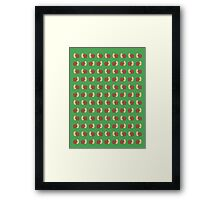 Adventure Time Snail - Small Rows Framed Print