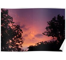 Sunset and Silhouette Poster
