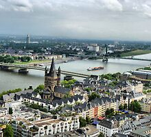 View of the River Rhine. by Lilian Marshall