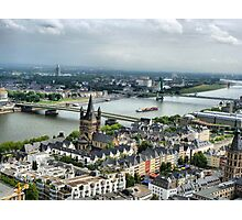 View of the River Rhine. Photographic Print