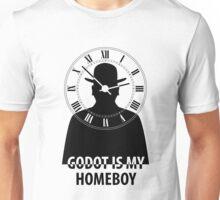 Godot is My Homeboy Black Unisex T-Shirt