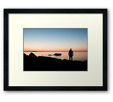Silent Silhouette – Acadia National Park, Maine Framed Print