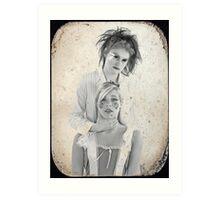Mad Hatter & Alice Art Print