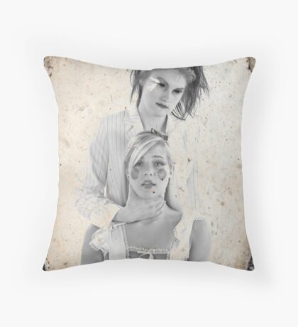 Mad Hatter & Alice Throw Pillow
