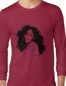 Donna Summer Portrait Sketch Long Sleeve T-Shirt