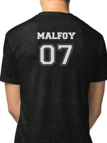 Malfoy Quidditch Jersey Number Tri-blend T-Shirt
