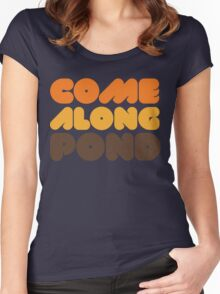 Doctor Who Come Along Pond Women's Fitted Scoop T-Shirt