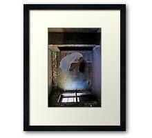 """Histoire des Mentalités""(Self Portrait), Abandoned Asylum Framed Print"