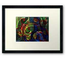 abstract scrolls Framed Print