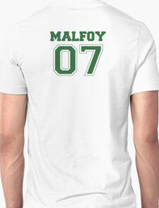 Malfoy Quidditch Jersey Number (Green) Unisex T-Shirt