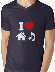 I Love House Music Mens V-Neck T-Shirt