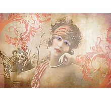 Flapper with Flourishes Photographic Print