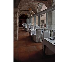 Diner time in Dubrovnik Photographic Print