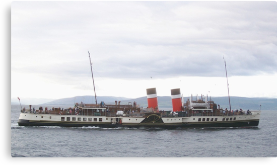 The Waverley Paddle Steamer, at Largs, Scotland by ElsT