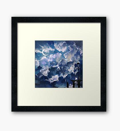 the sky-wanderer. Framed Print