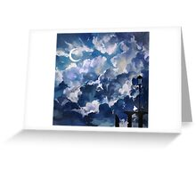 the sky-wanderer. Greeting Card
