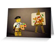 Painter Man Greeting Card