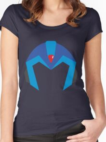 Mega Man X Helmet T Women's Fitted Scoop T-Shirt