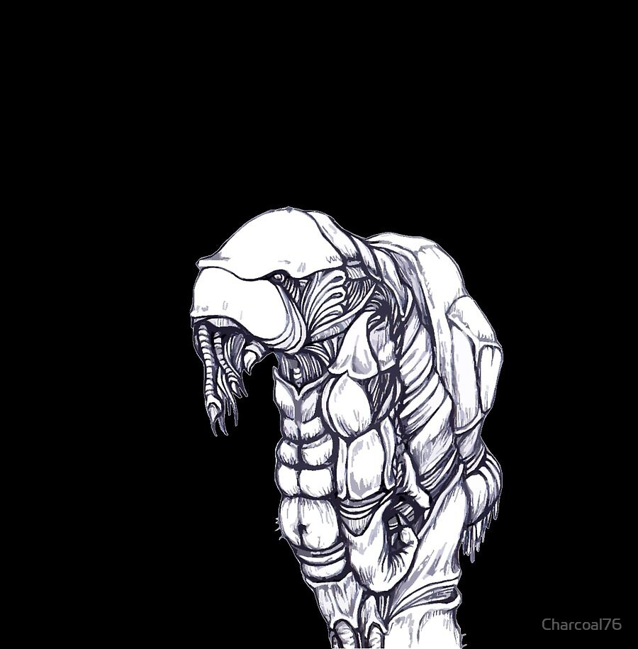Alien with a Rucksack by Charcoal76