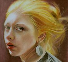The girl with a silver earring by Brian Scott