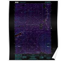 USGS Topo Map Oregon Black Butte 279052 1988 24000 Inverted Poster